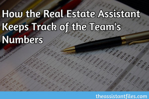 How the Real Estate Assistant Keeps Track of the Team's Numbers